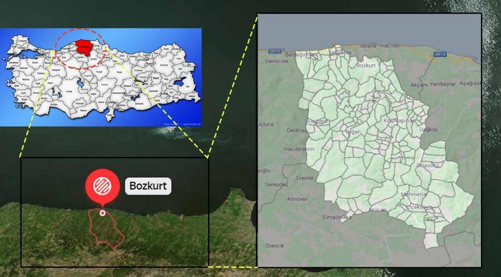 Bozkurt mahalle haritası