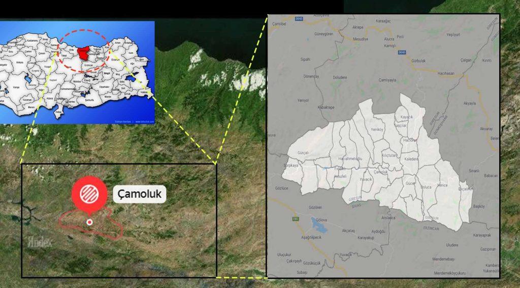 Çamoluk mahalle haritası