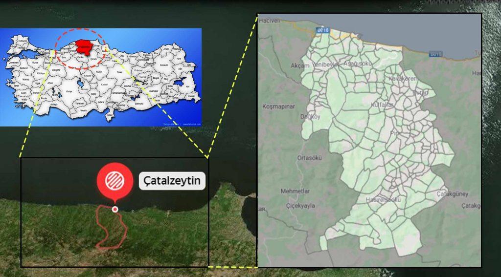 Çatalzeytin mahalle haritası