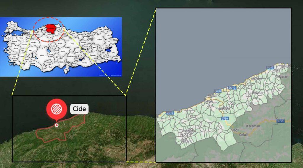 Cide mahalle haritası