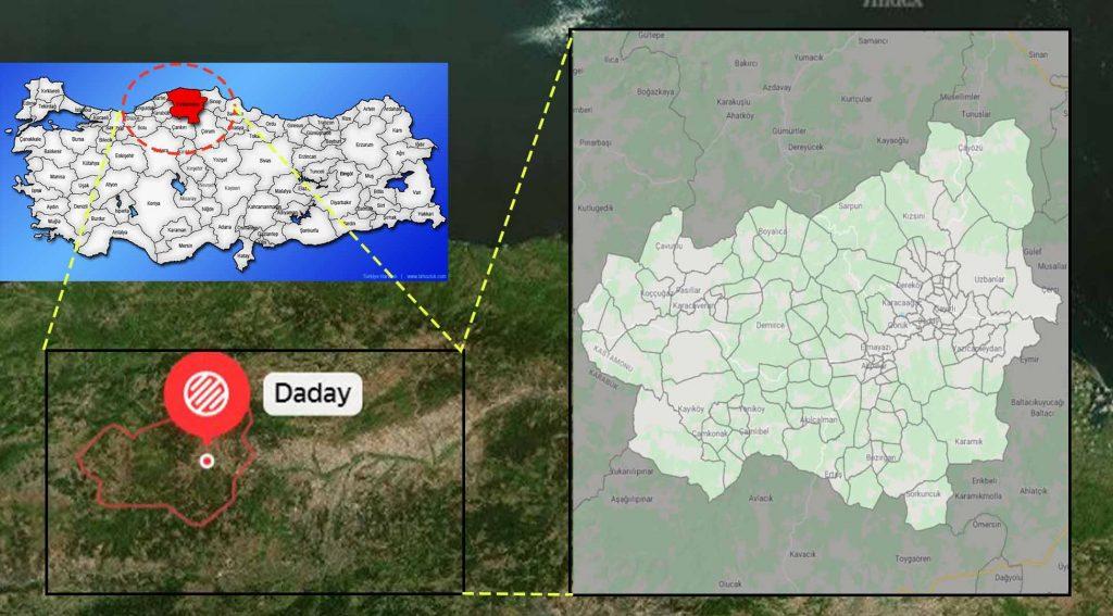 Daday mahalle haritası