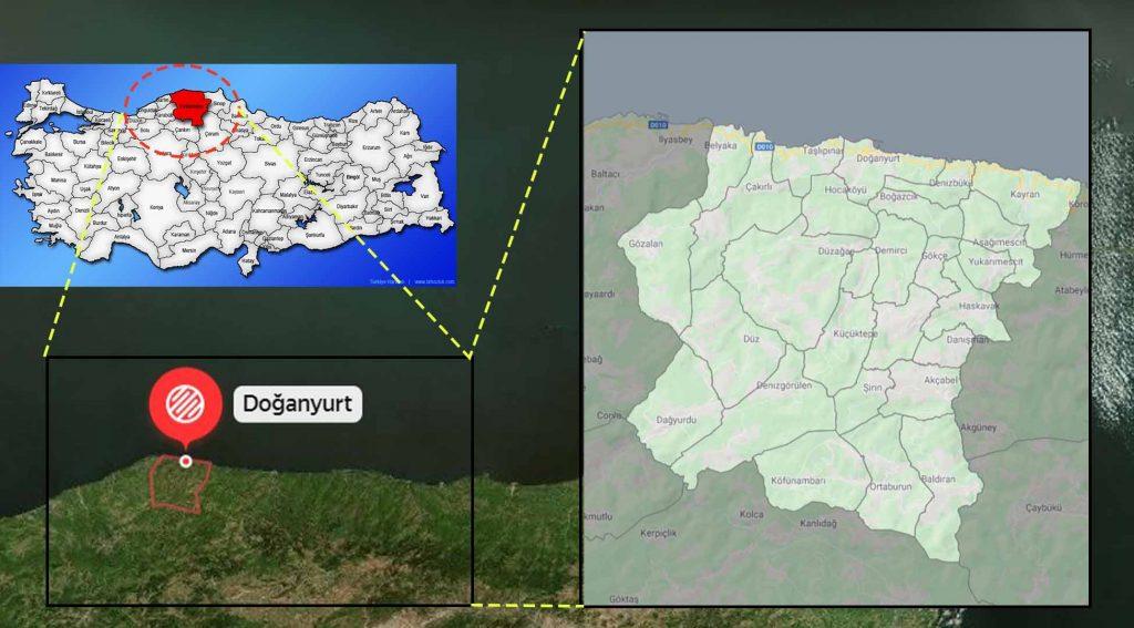 Doğanyurt mahalle haritası