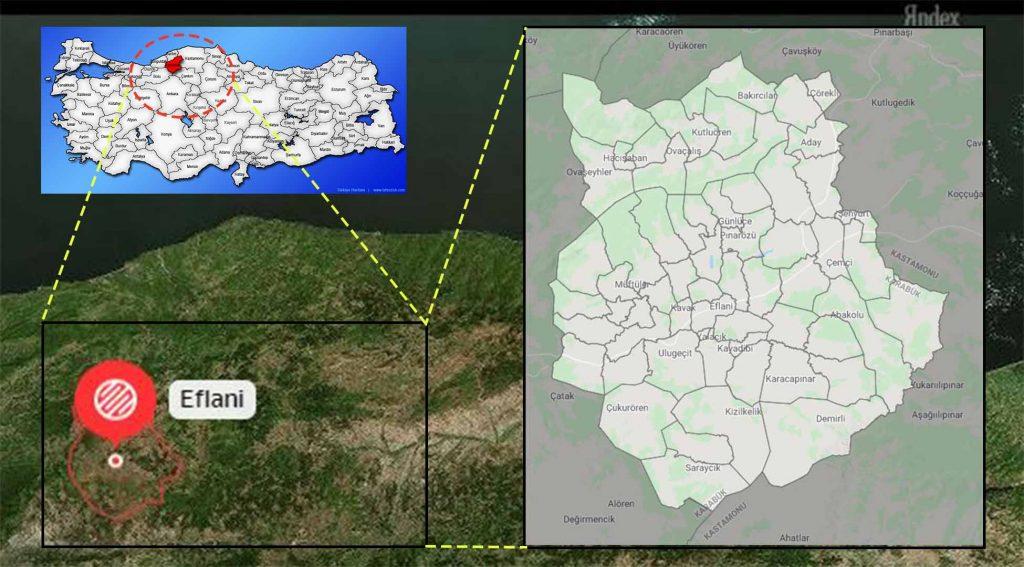 Eflani mahalle haritası