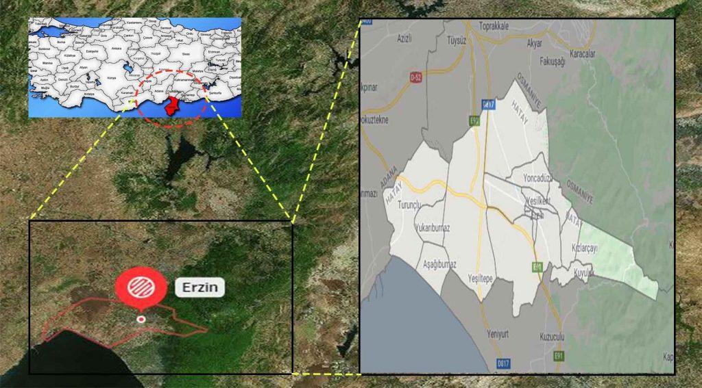 Erzin mahalle haritası