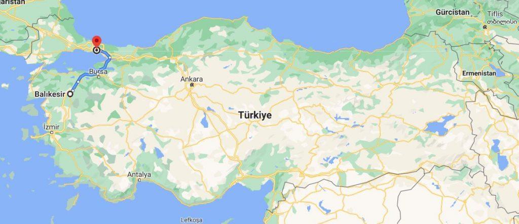 İstanbul Balıkesir Arası Kaç KM
