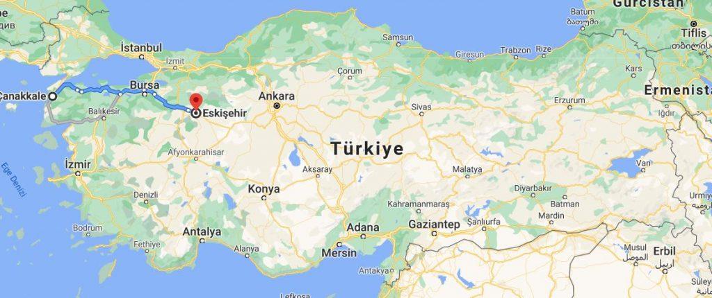 Eskişehir Çanakkale Arası Kaç KM