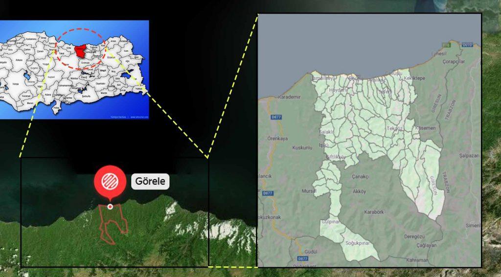 Görele mahalle haritası