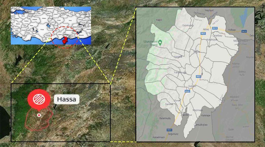 Hassa mahalle haritası