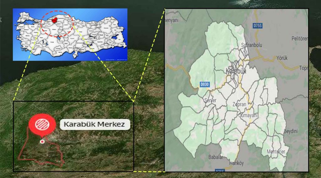 Karabük mahalle haritası