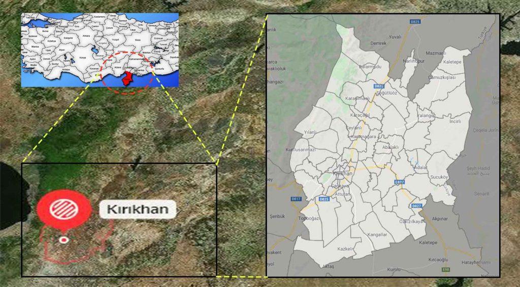 Kırıkhan mahalle haritası