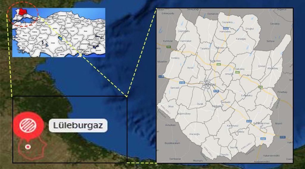 Lüleburgaz mahalle haritası