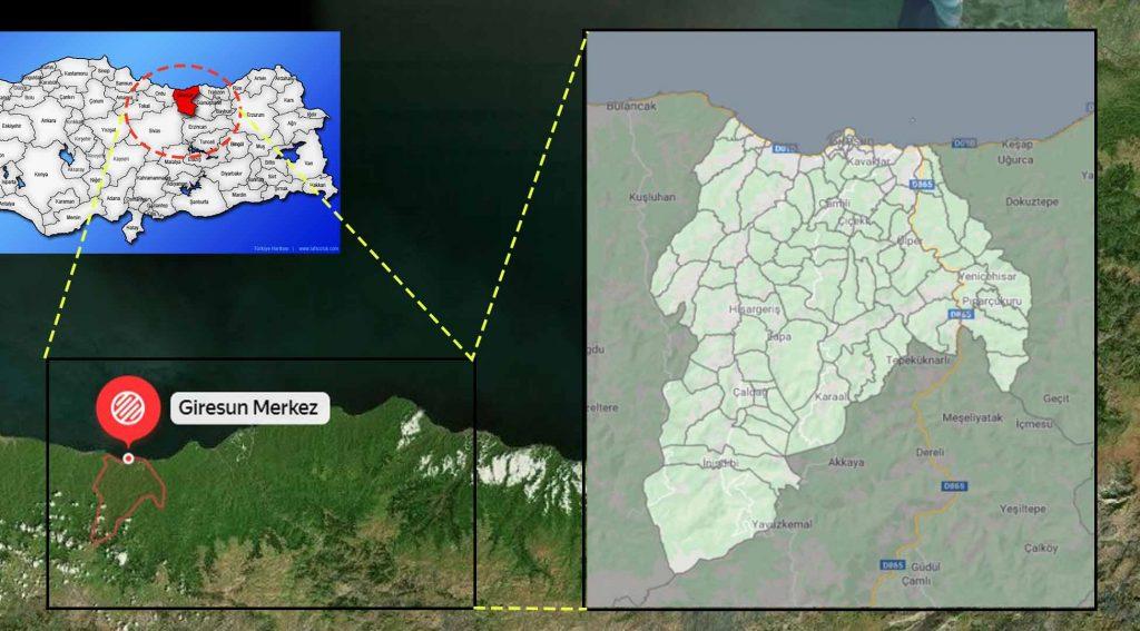 Giresun merkez mahalle haritası