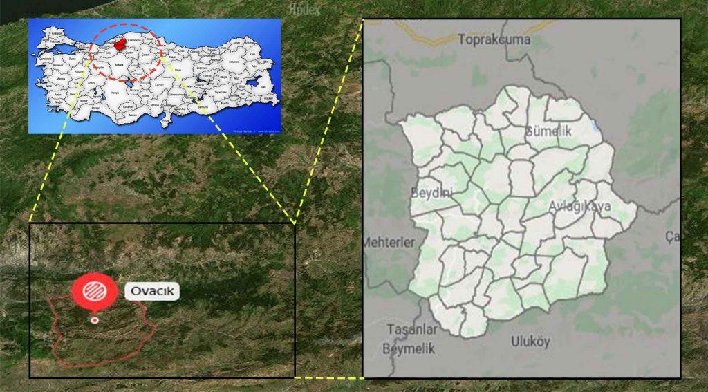 Ovacık mahalle haritası