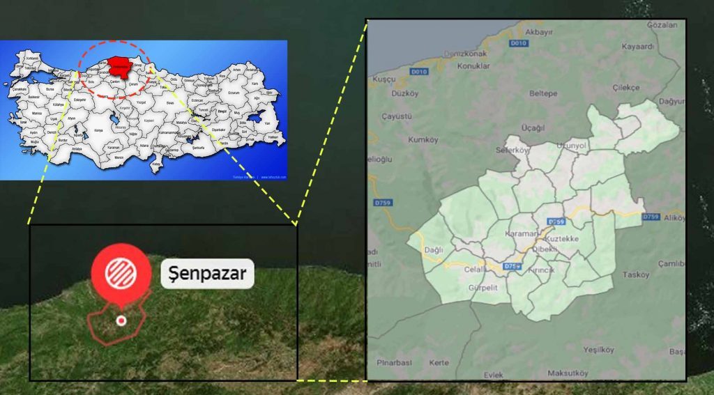 Şenpazar mahalle haritası