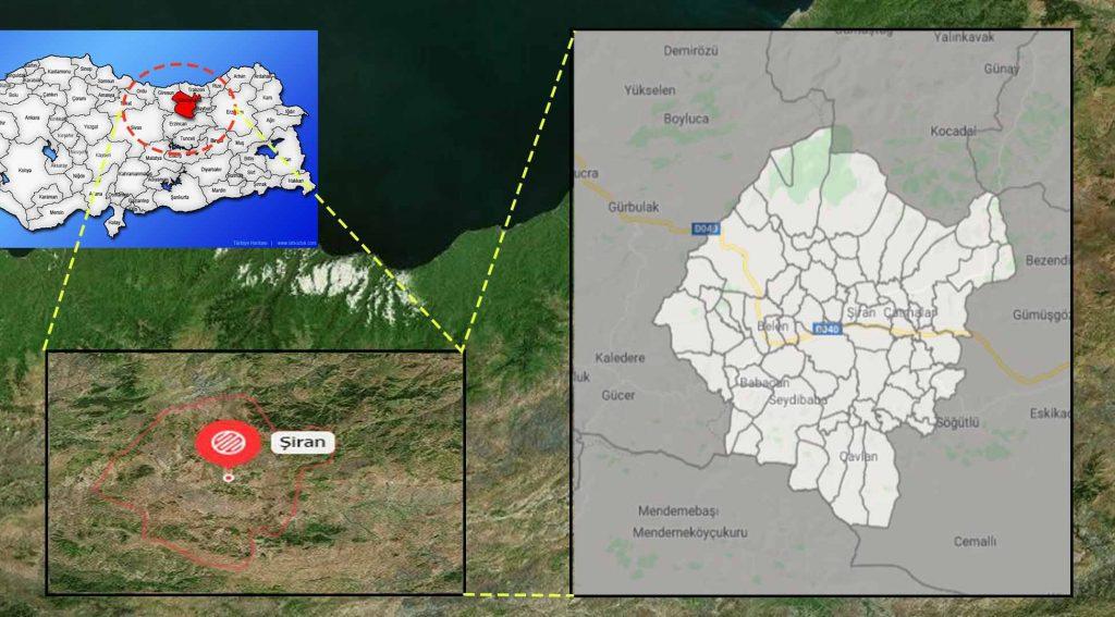 Şiran mahalle haritası