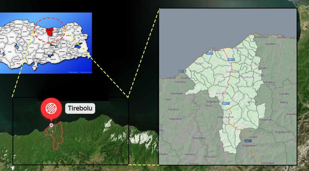 Tirebolu mahalle haritası