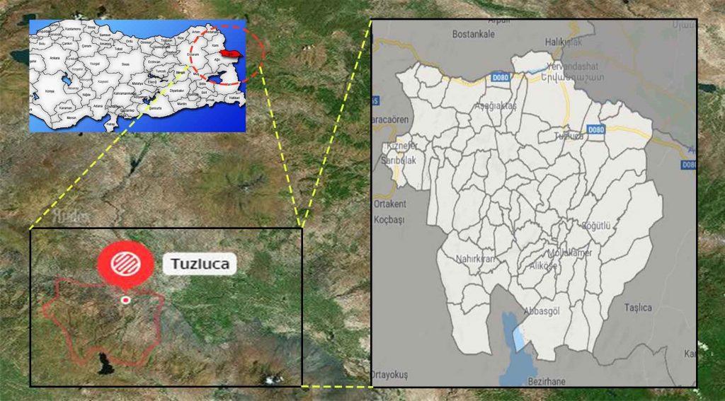 Tuzluca mahalle haritası