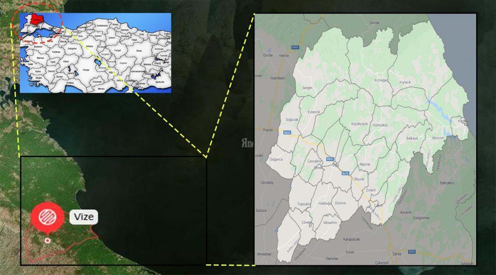Vize mahalle haritası