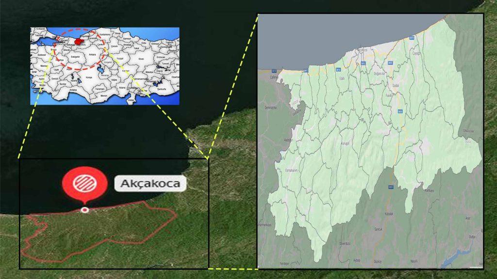 Akçakoca mahalle haritası