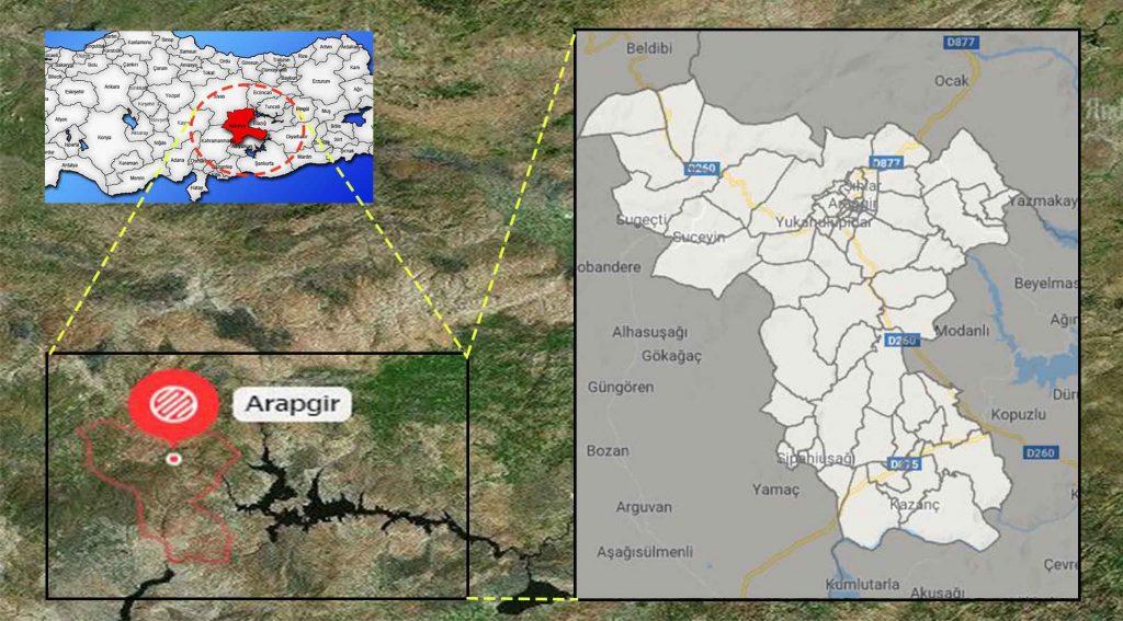 Arapgir mahalle haritası