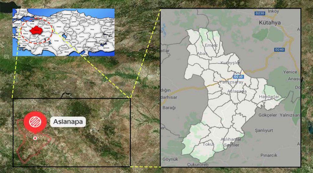 Aslanapa mahalle haritası