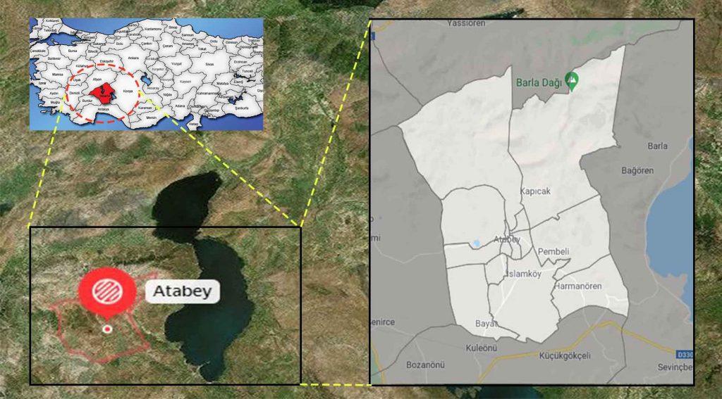Atabey mahalle haritası