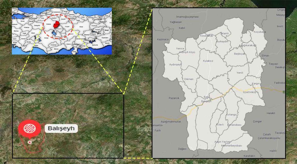 Balışeyh mahalle haritası