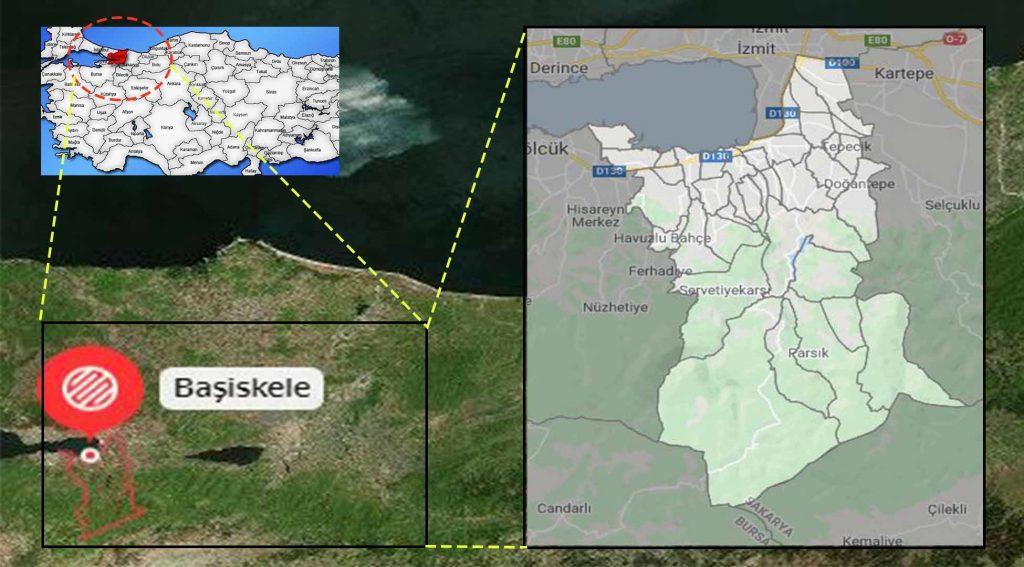 Başiskele mahalle haritası