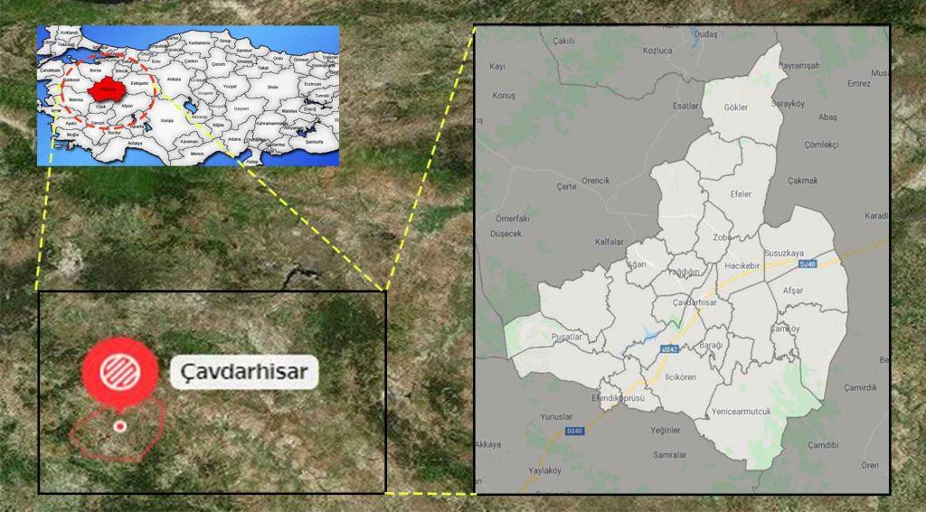 Çavdar mahalle haritası