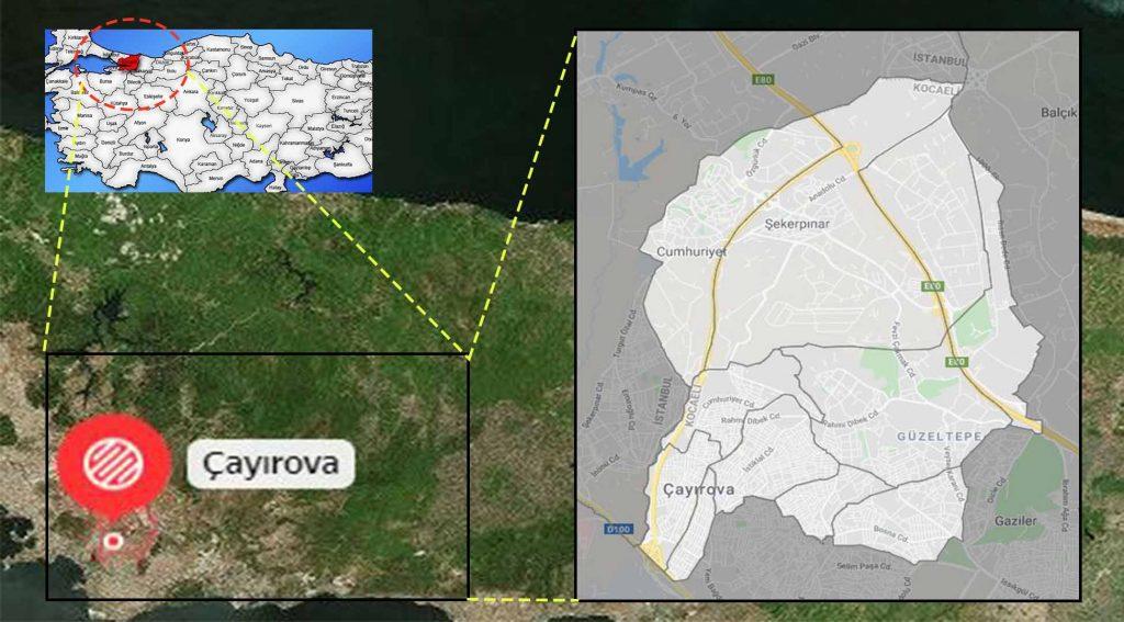 Çayırova mahalle haritası