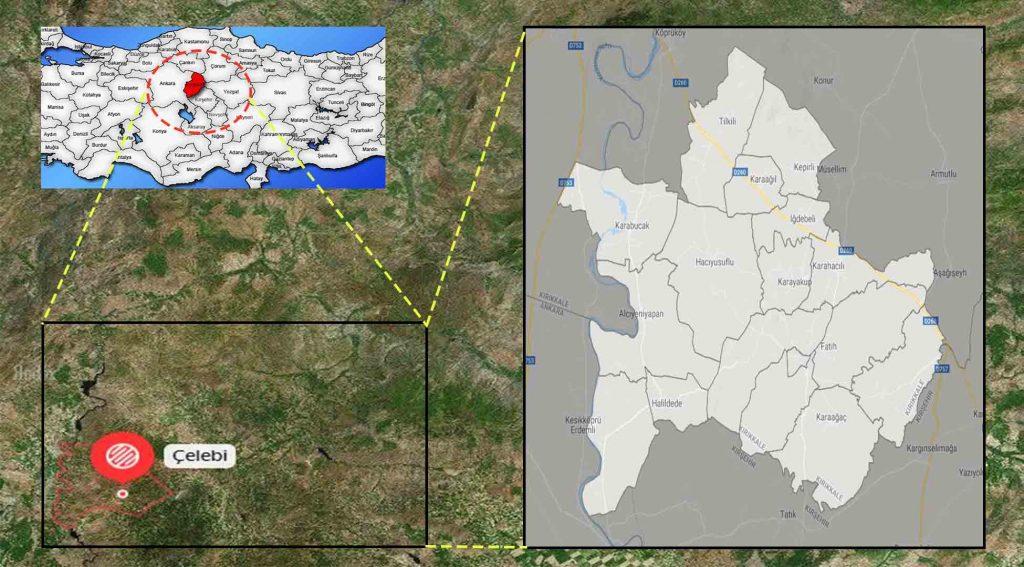 Çelebi mahalle haritası