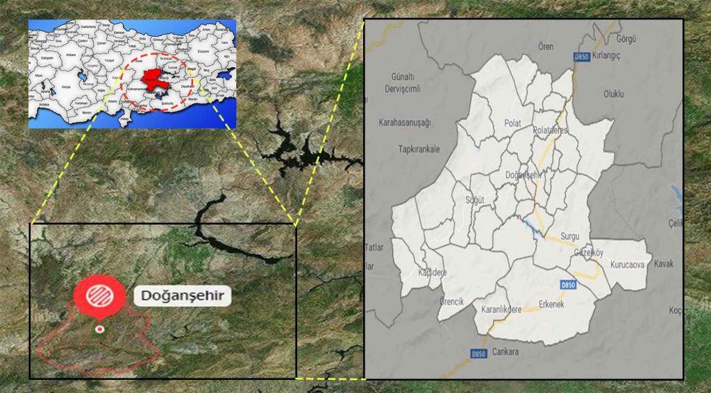 Doğanşehir mahalle haritası