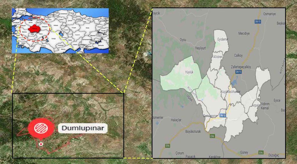 Dumlupınar mahalle haritası