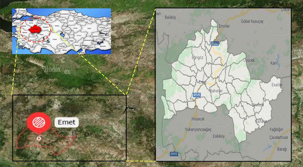 Emet mahalle haritası