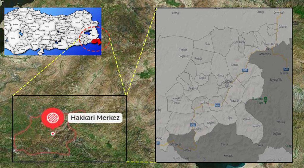 Hakkari Merkez mahalle haritası