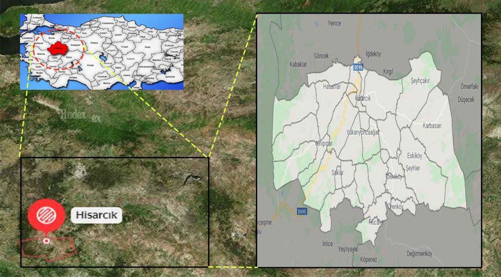 Hisarcık mahalle haritası