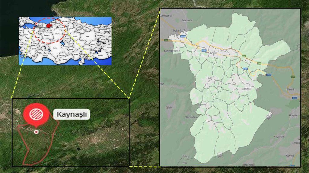 Kaynaşlı mahalle haritası