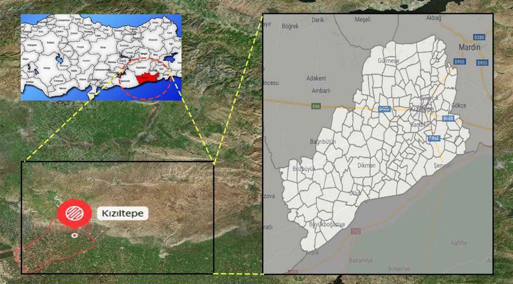 Kızıltepe mahalle haritası