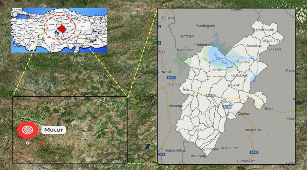 Mucur mahalle haritası