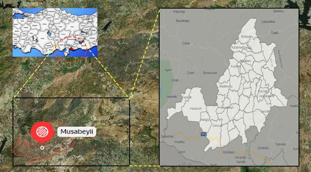 Musabeyli mahalle haritası