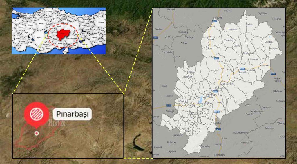 Pınarbaşı mahalle haritası