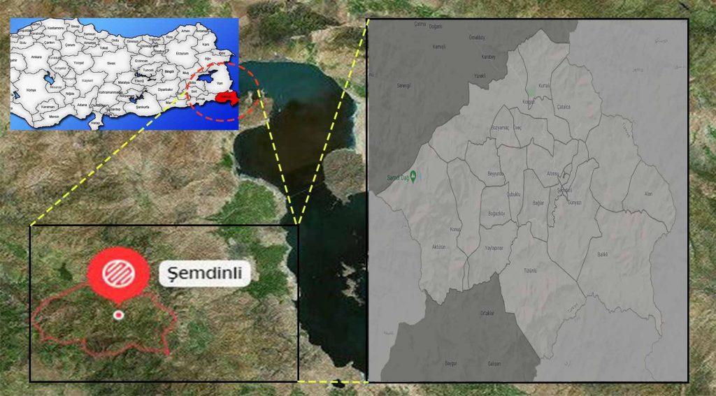 Şemdinli mahalle haritası
