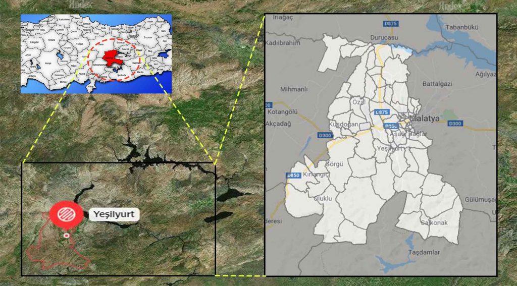Yeşilyurt mahalle haritası