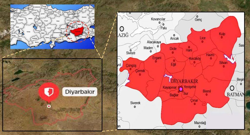Diyarbakır İlçeleri Haritası