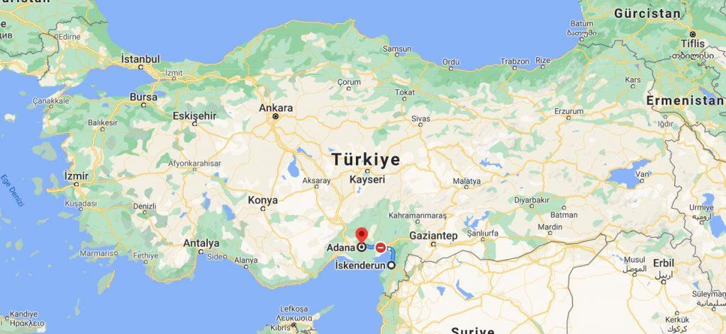 Adana İskenderun Arası Kaç KM