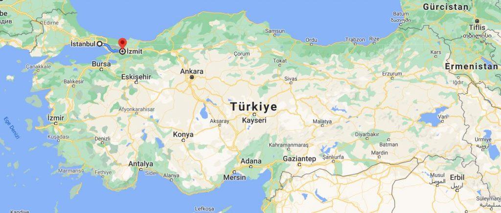 İstanbul İzmit Arası Kaç KM