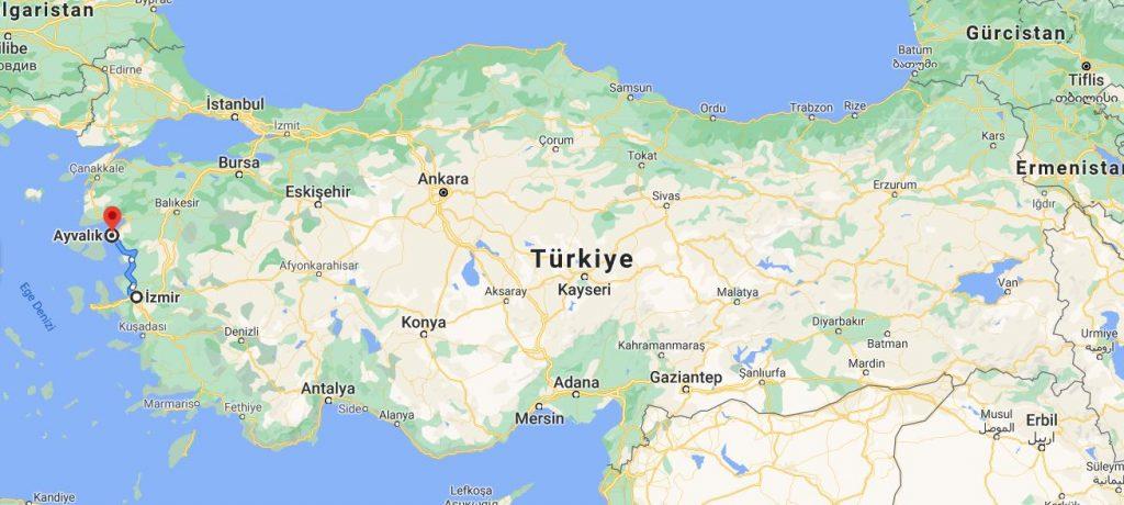 İzmir Ayvalık Arası Kaç KM