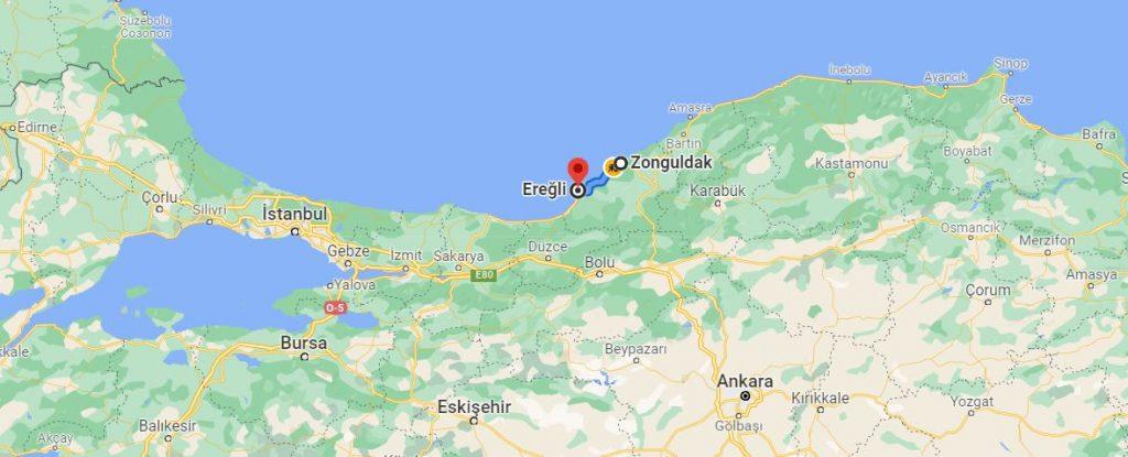 Zonguldak Ereğli Arası Kaç KM