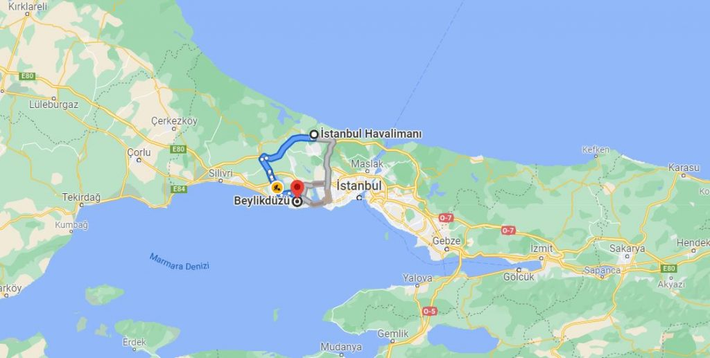 İstanbul Havalimanı Beylikdüzü Arası Kaç KM