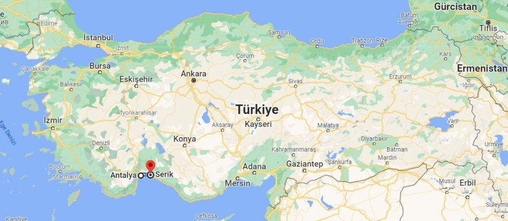 Antalya Serik Arası Kaç KM